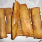 Making ultimae paty snack Philippne Lumpia