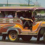 Jeepney in central Manila 1960s