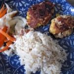 Bemto Lunch with Burgers and Rice