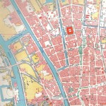 Downtown Saigon map - section from old survey map