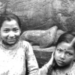 Patan, Nepal, two girls