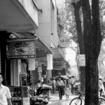 View of downtown Saigon street scene, 1966