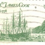 Capt. James Cook's ship off Hawaii, 1778