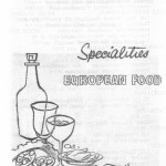 Advertisement from Chez Mario restaurant, Djakarta, 1960s