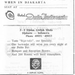 Adverftisement for Hotel Duta Indonesia, Djakarta, 1960s