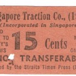 Singapore Traction train ticket