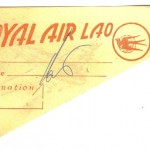 Rpyal Air Laos, boarding card, 1960s