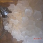 Using crystallized rock sugar in the Asian kitchen.