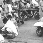 India - Calcutta - street scene near Kali Ghat temple