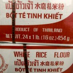 Cooking with rice flour
