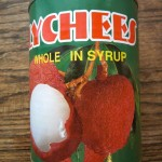 Canned litchi fruit, ingredient in Litchi Ice Cream