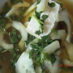 Cold Cucumber Soup, a Fusion Dish