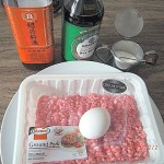 Mise en Place for Meat Balls with Glutinous Rice